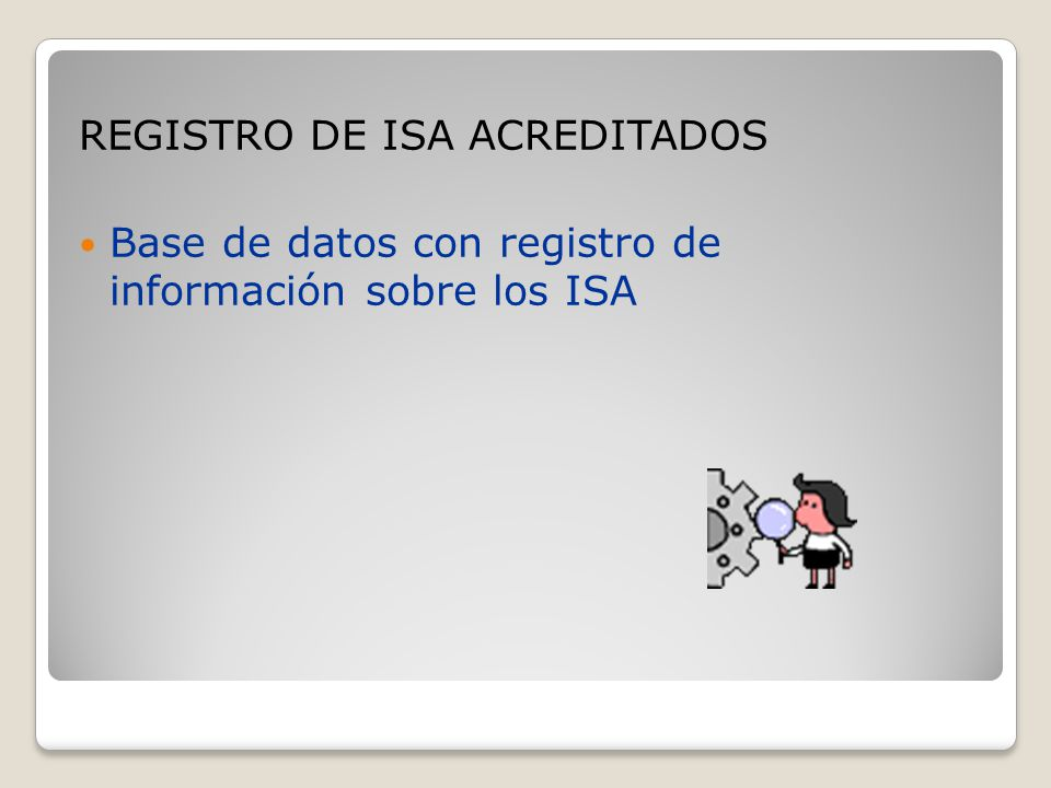 REGISTRO DE ISA ACREDITADOS