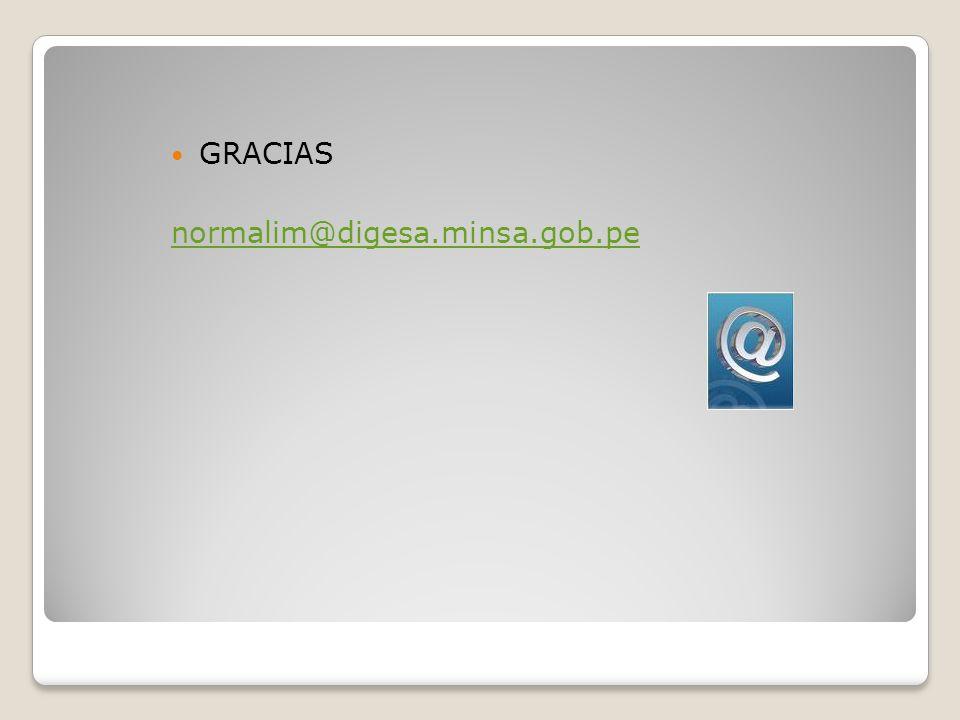 GRACIAS normalim@digesa.minsa.gob.pe