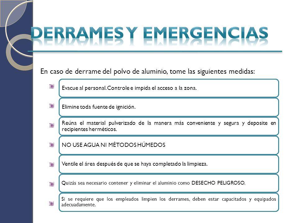 DERRAMES Y EMERGENCIAS