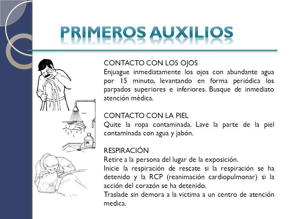 PRIMEROS AUXILIOS CONTACTO CON LOS OJOS