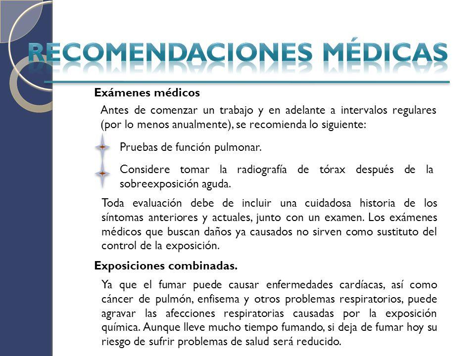 RECOMENDACIONES MÉDICAS