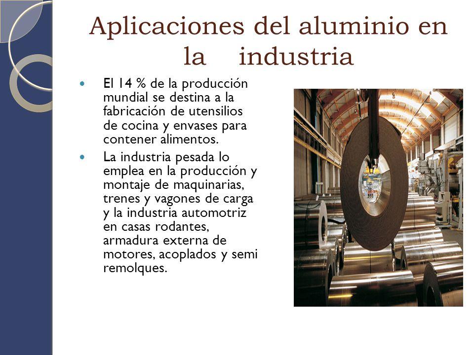 Aplicaciones del aluminio en la industria