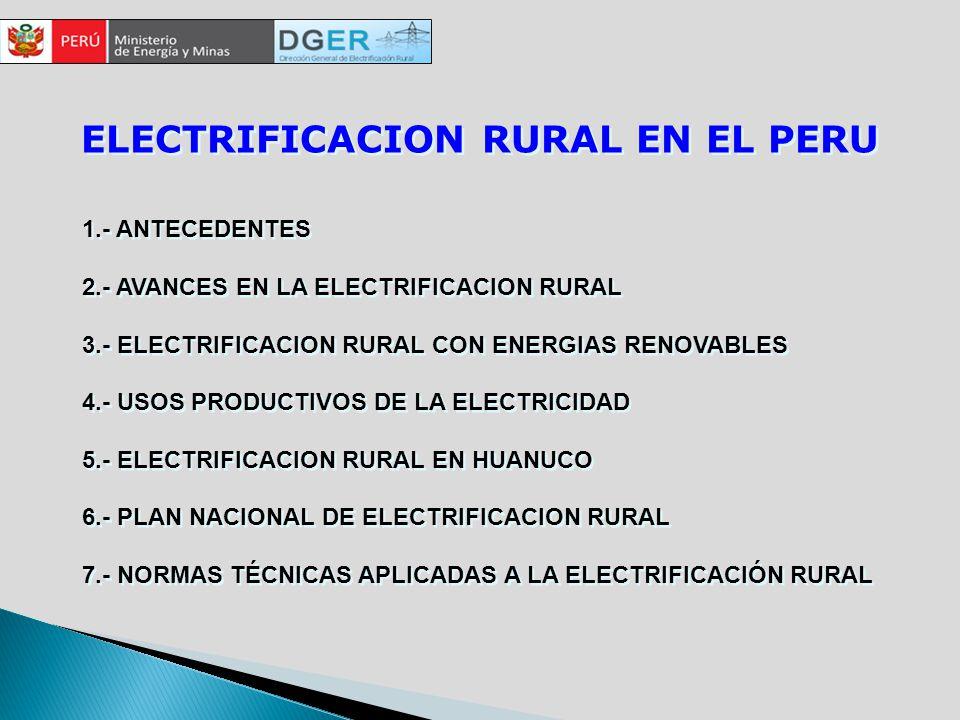 ELECTRIFICACION RURAL EN EL PERU