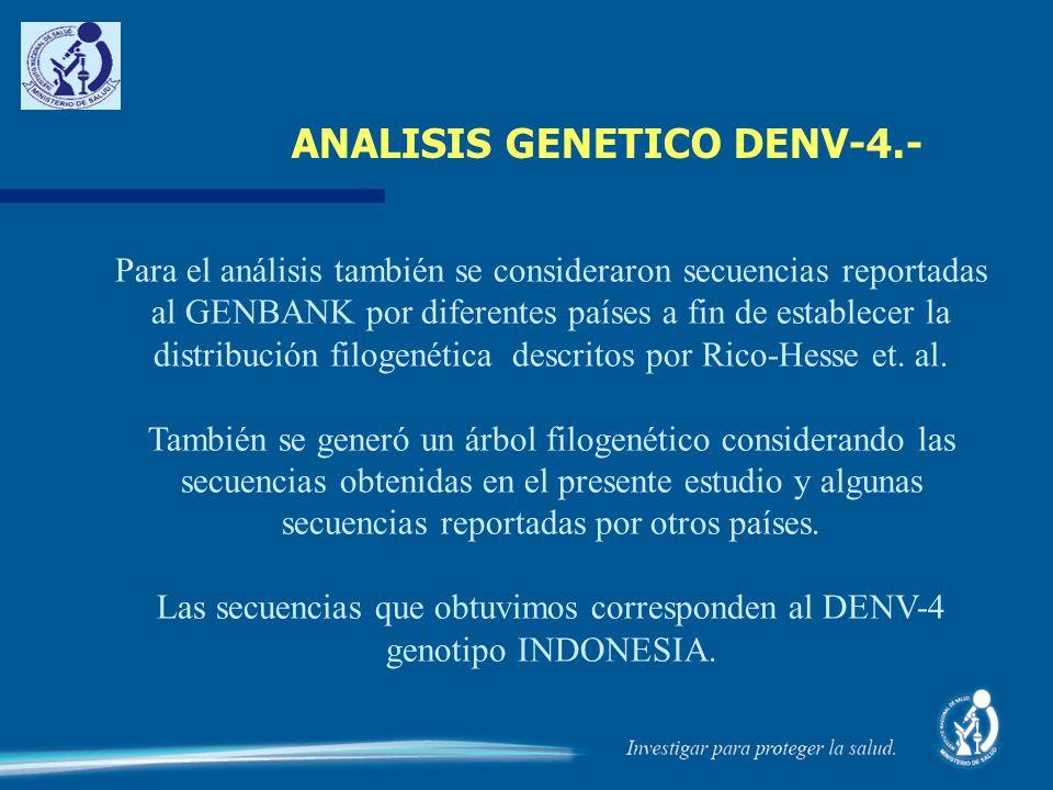 ANALISIS GENETICO DENV-4.-
