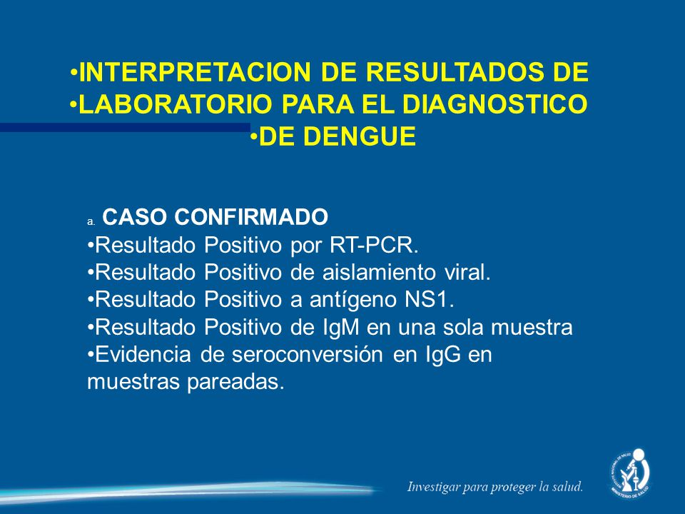 INTERPRETACION DE RESULTADOS DE LABORATORIO PARA EL DIAGNOSTICO