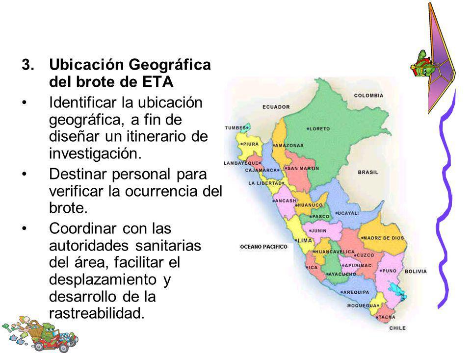 Ubicación Geográfica del brote de ETA