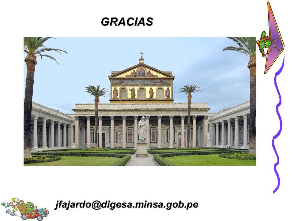 GRACIAS jfajardo@digesa.minsa.gob.pe