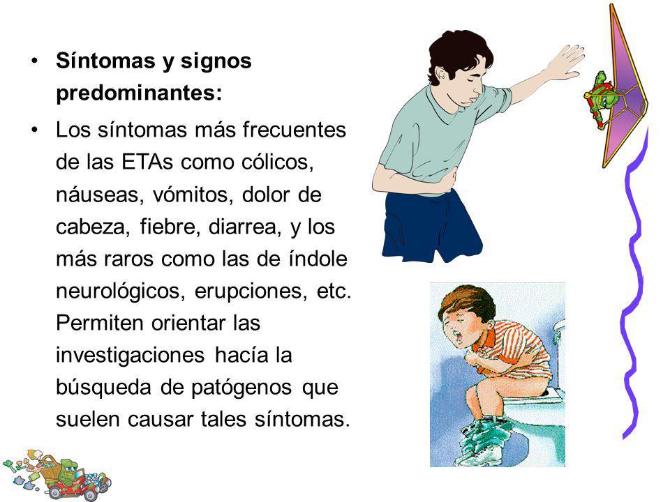 Síntomas y signos predominantes: