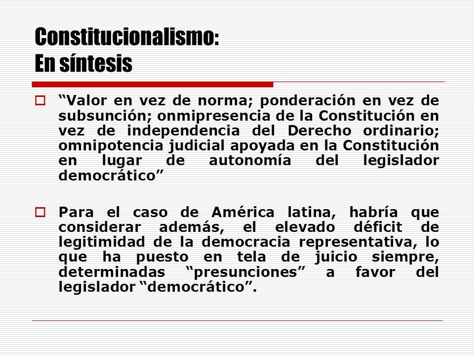 Constitucionalismo: En síntesis