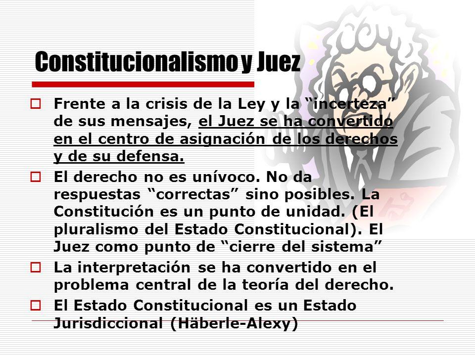 Constitucionalismo y Juez