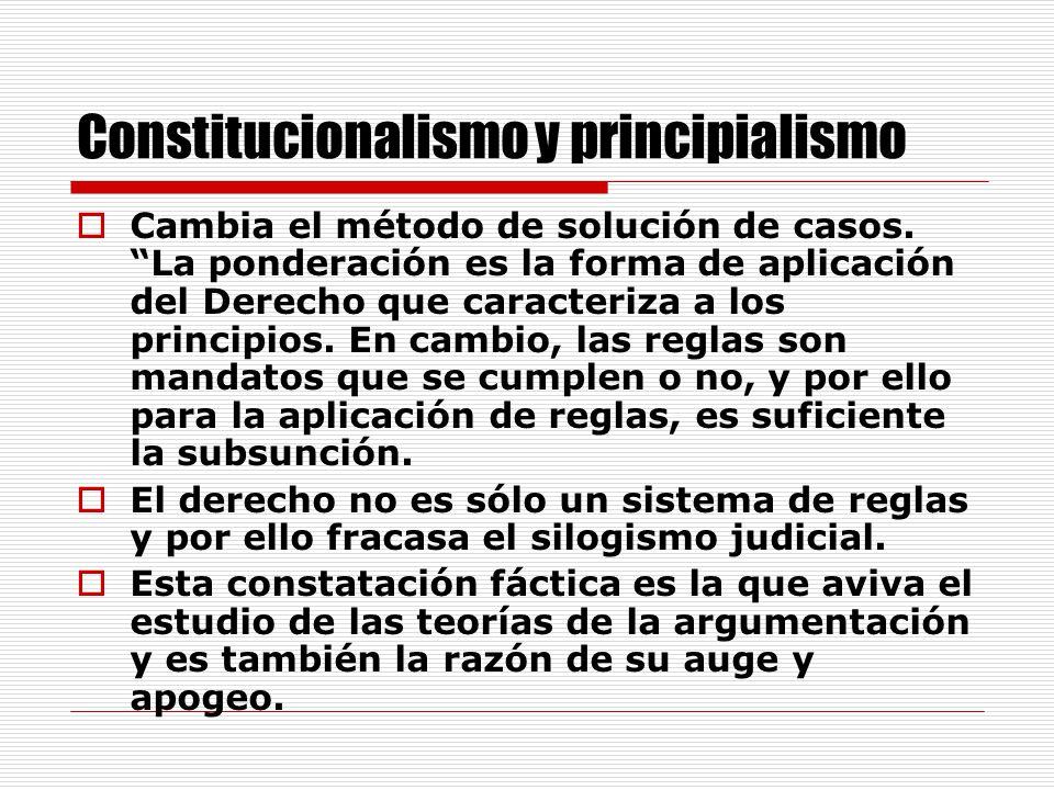 Constitucionalismo y principialismo