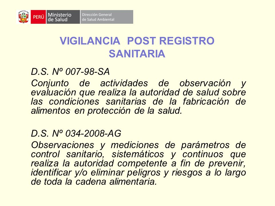 VIGILANCIA POST REGISTRO SANITARIA