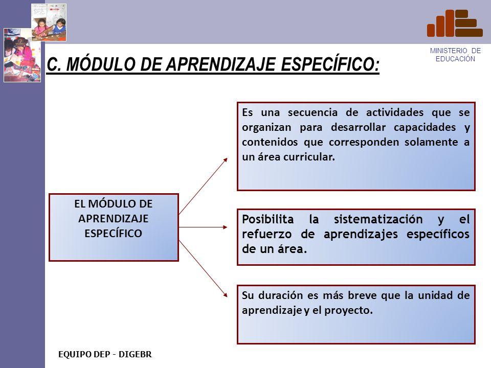 C. MÓDULO DE APRENDIZAJE ESPECÍFICO:
