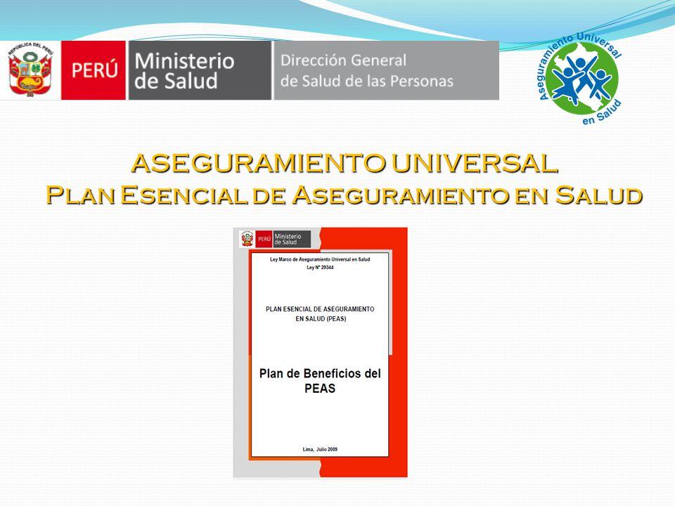 ASEGURAMIENTO UNIVERSAL Plan Esencial de Aseguramiento en Salud