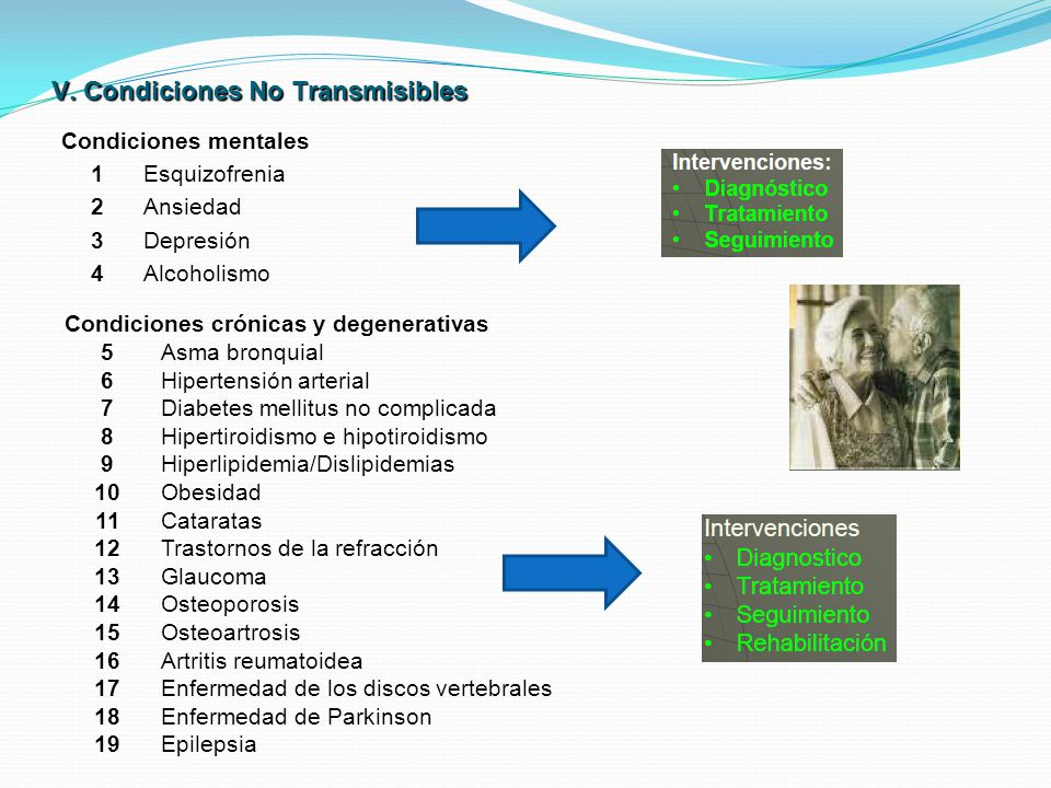 V. Condiciones No Transmisibles