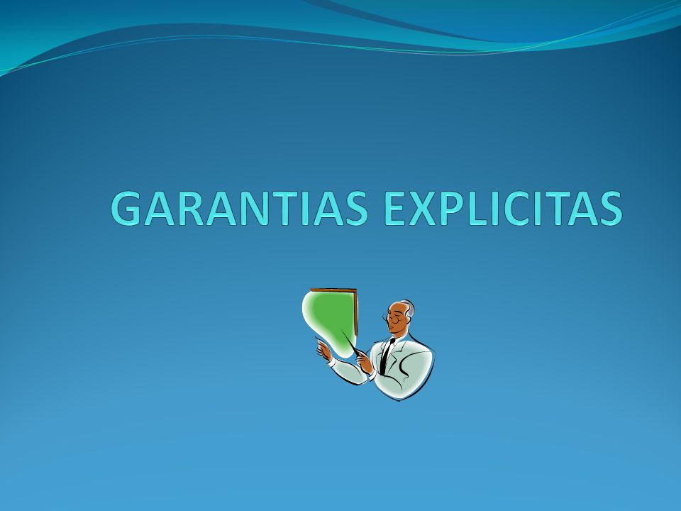 GARANTIAS EXPLICITAS