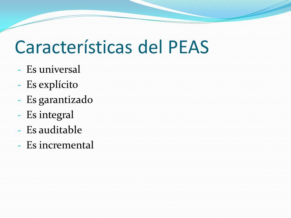 Características del PEAS