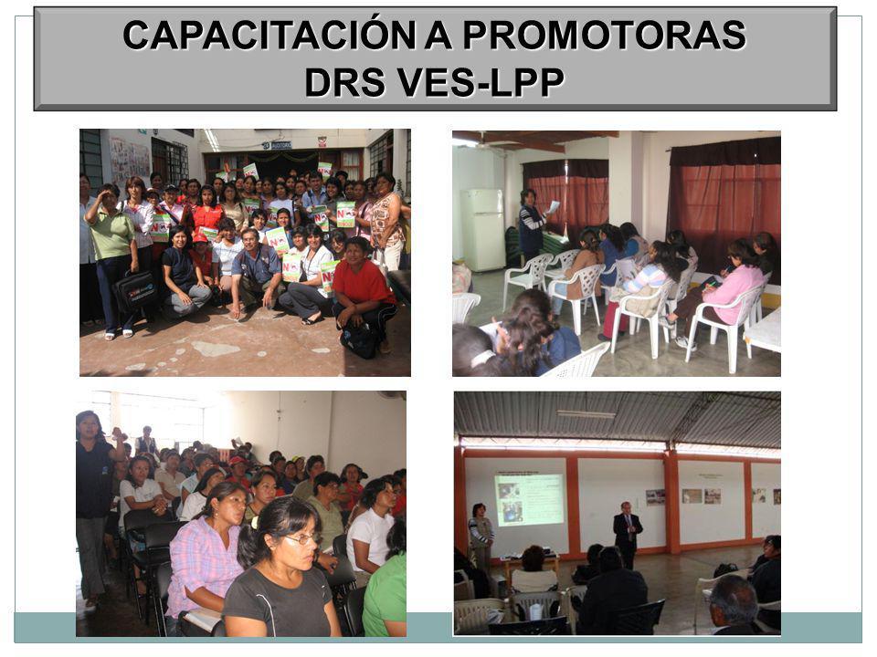 CAPACITACIÓN A PROMOTORAS DRS VES-LPP