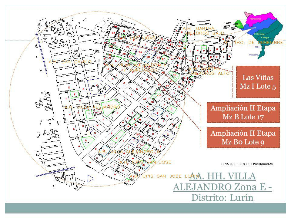 AA. HH. VILLA ALEJANDRO Zona E -Distrito: Lurín