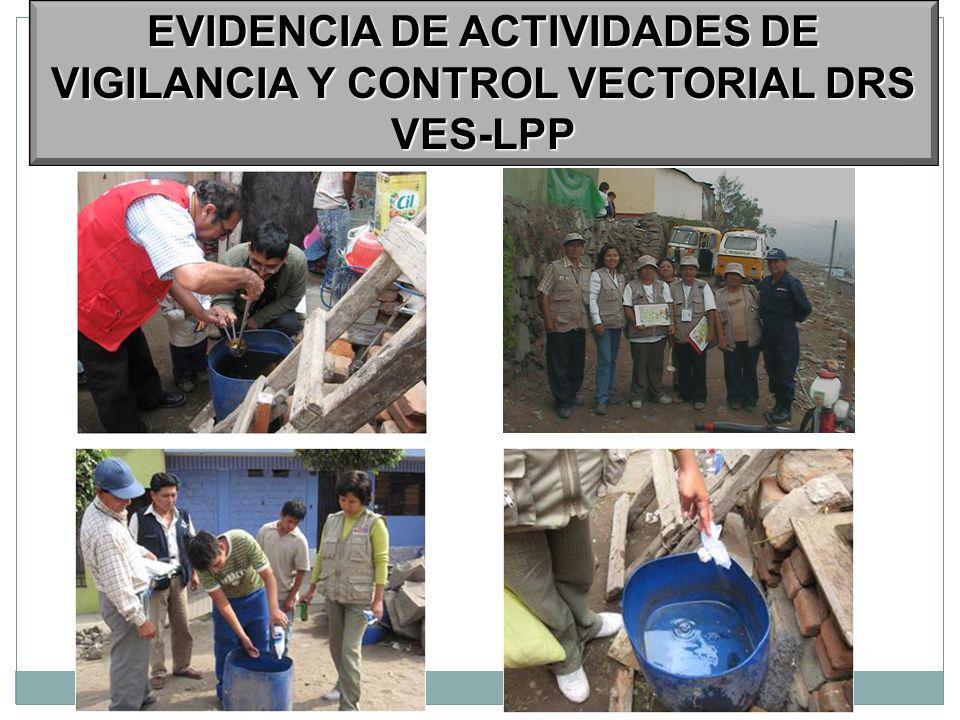 EVIDENCIA DE ACTIVIDADES DE VIGILANCIA Y CONTROL VECTORIAL DRS VES-LPP