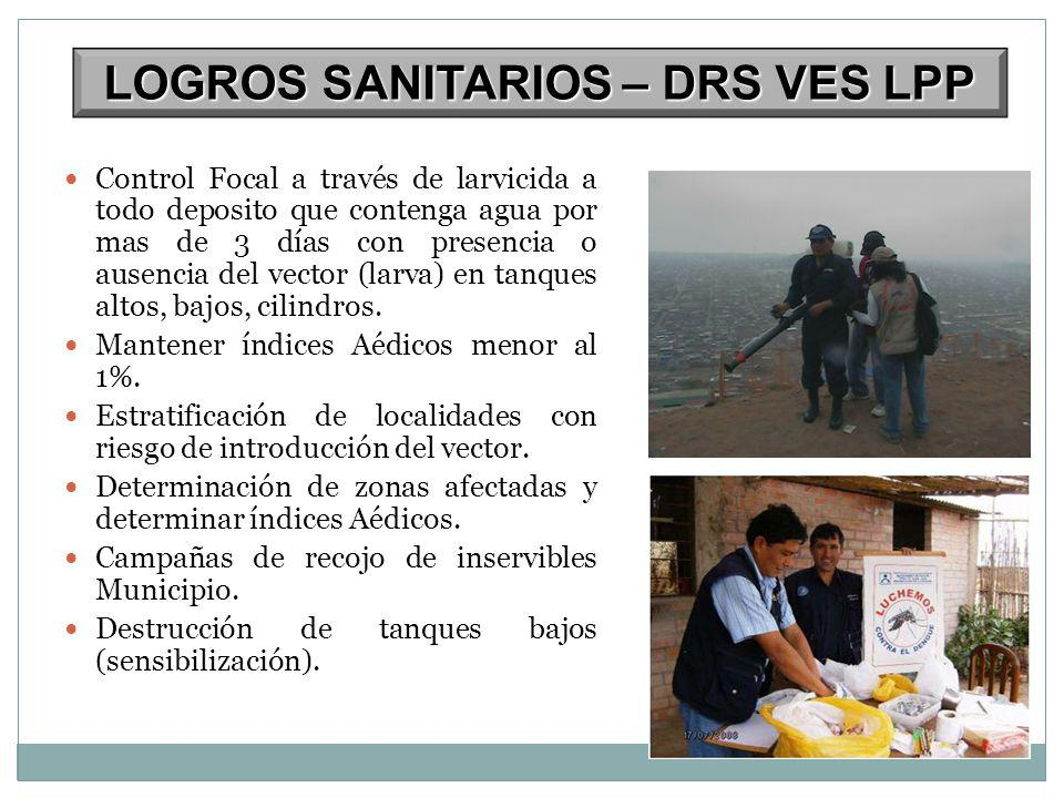 LOGROS SANITARIOS – DRS VES LPP