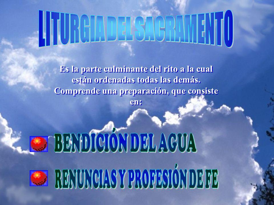 LITURGIA DEL SACRAMENTO RENUNCIAS Y PROFESIÓN DE FE