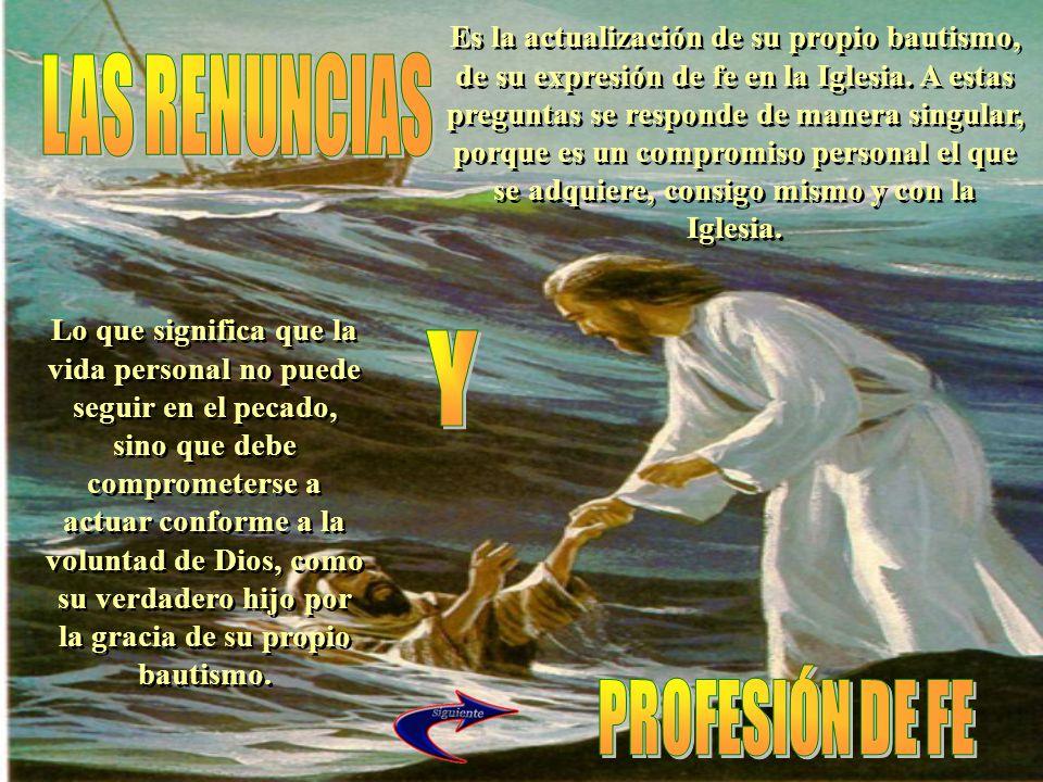 LAS RENUNCIAS Y PROFESIÓN DE FE