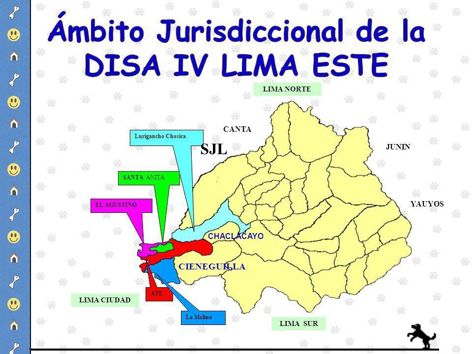 Ámbito Jurisdiccional de la DISA IV LIMA ESTE