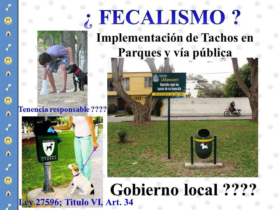 Implementación de Tachos en Parques y vía pública