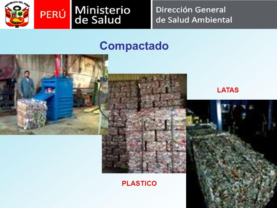 Compactado LATAS PLASTICO