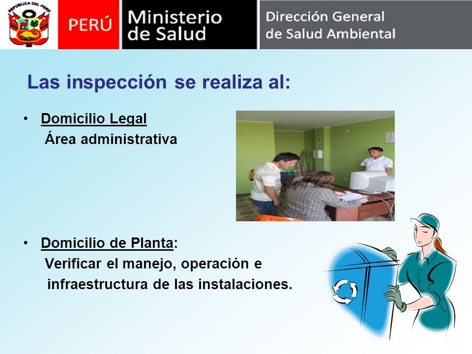 Las inspección se realiza al: