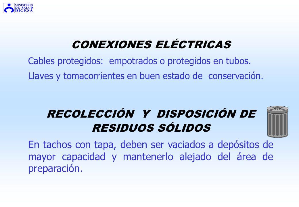 CONEXIONES ELÉCTRICAS RECOLECCIÓN Y DISPOSICIÓN DE