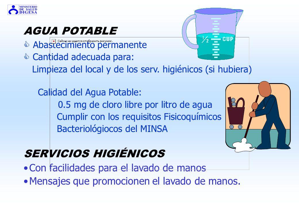 AGUA POTABLE SERVICIOS HIGIÉNICOS