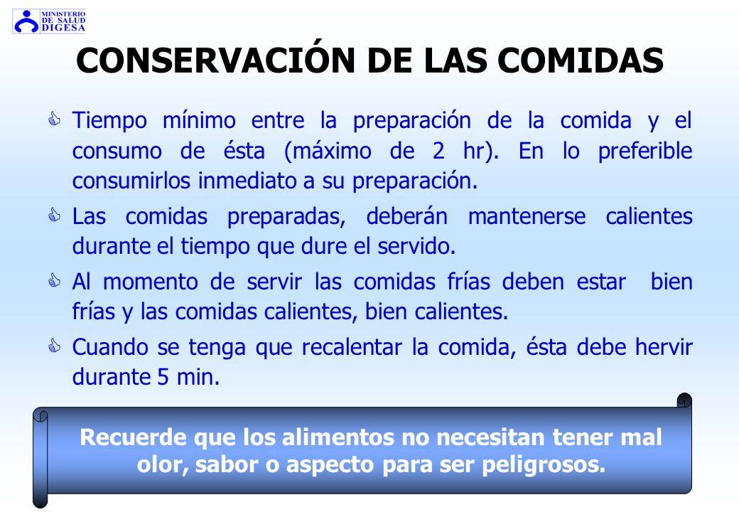CONSERVACIÓN DE LAS COMIDAS