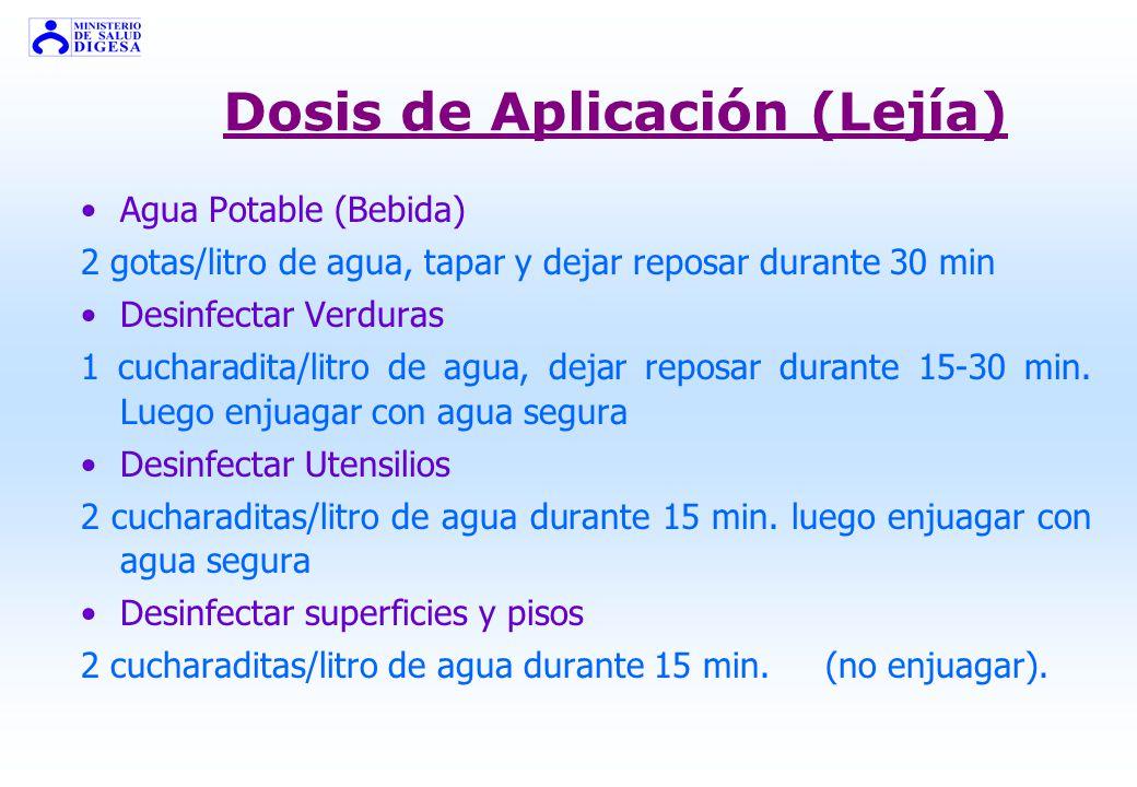 Dosis de Aplicación (Lejía)