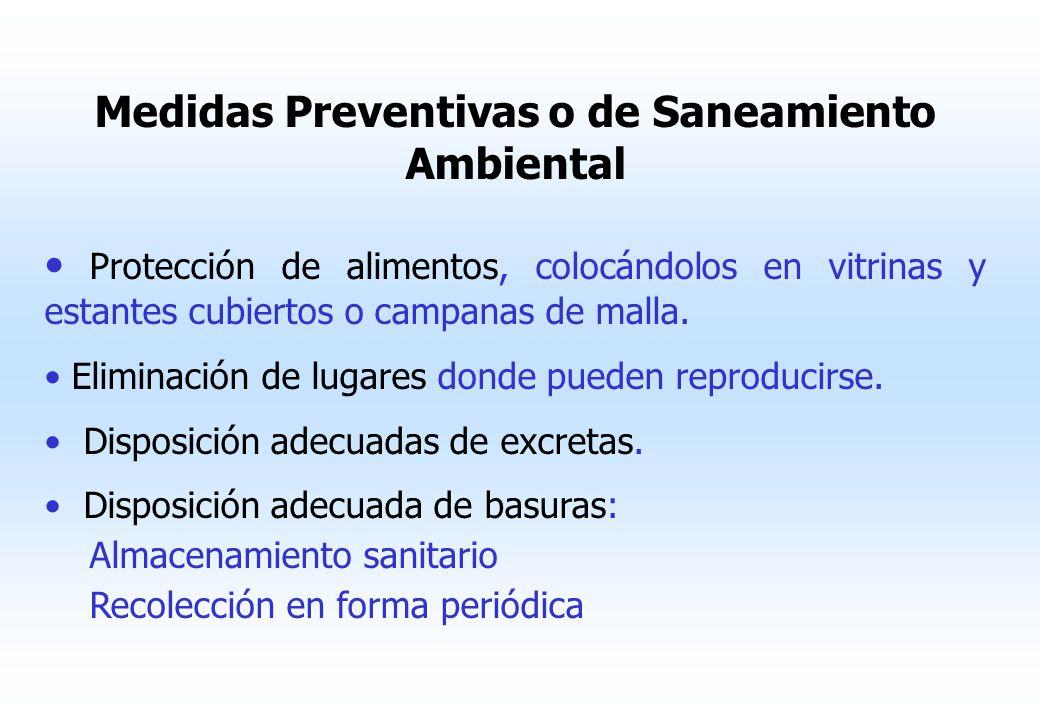 Medidas Preventivas o de Saneamiento Ambiental