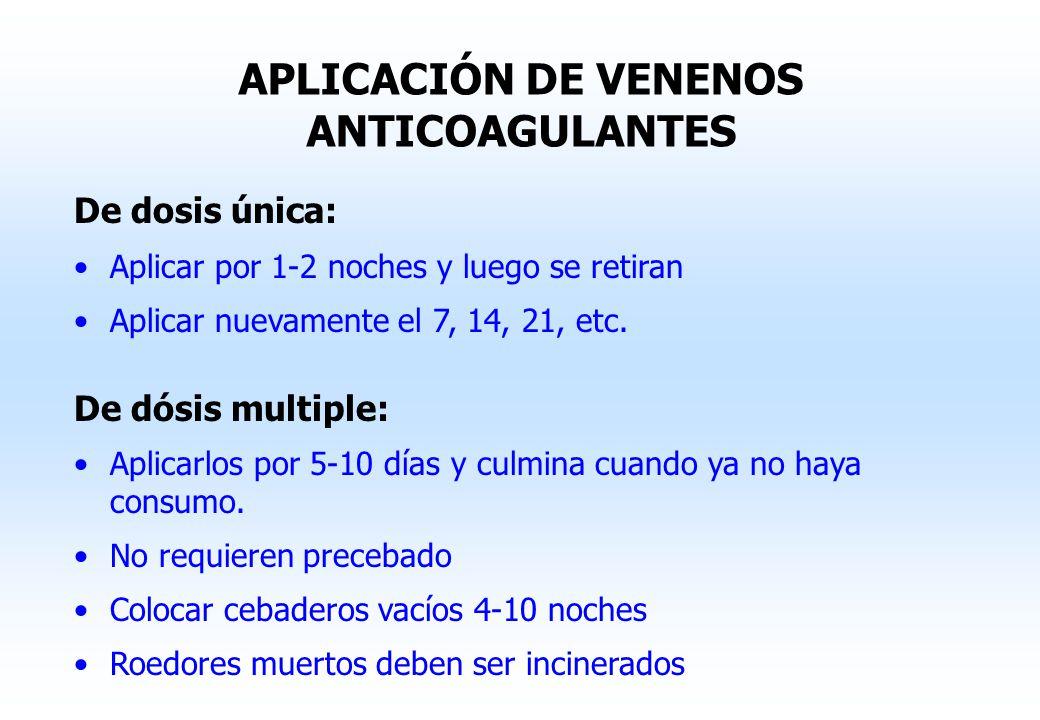 APLICACIÓN DE VENENOS ANTICOAGULANTES