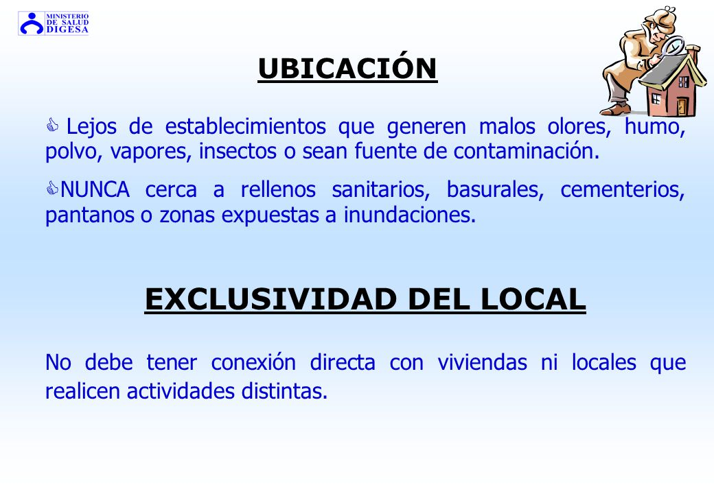 EXCLUSIVIDAD DEL LOCAL