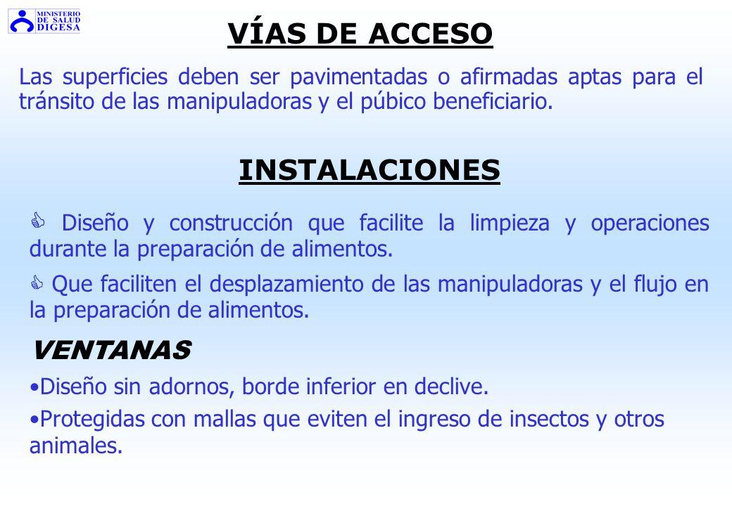 VÍAS DE ACCESO INSTALACIONES