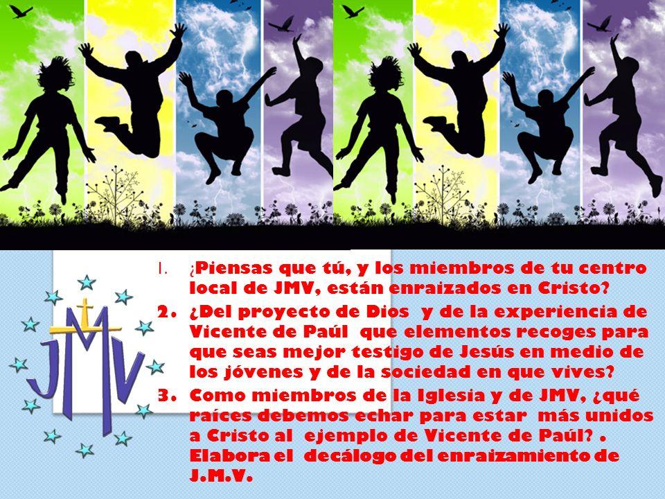 ¿Piensas que tú, y los miembros de tu centro local de JMV, están enraizados en Cristo