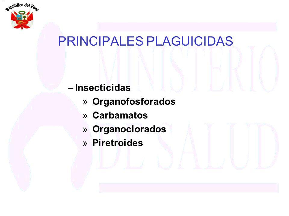 PRINCIPALES PLAGUICIDAS