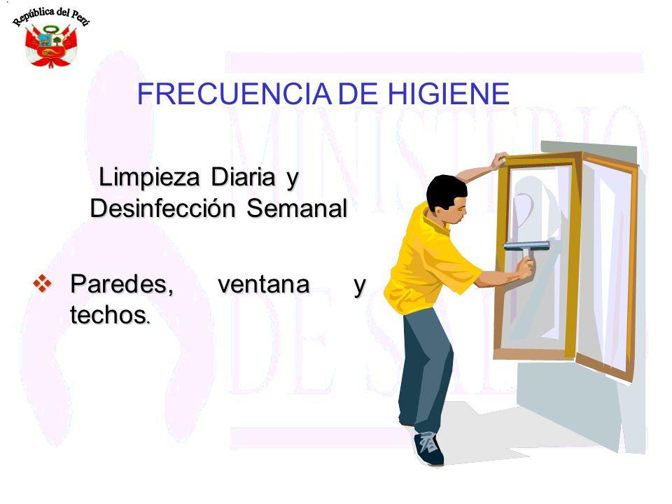 Limpieza Diaria y Desinfección Semanal