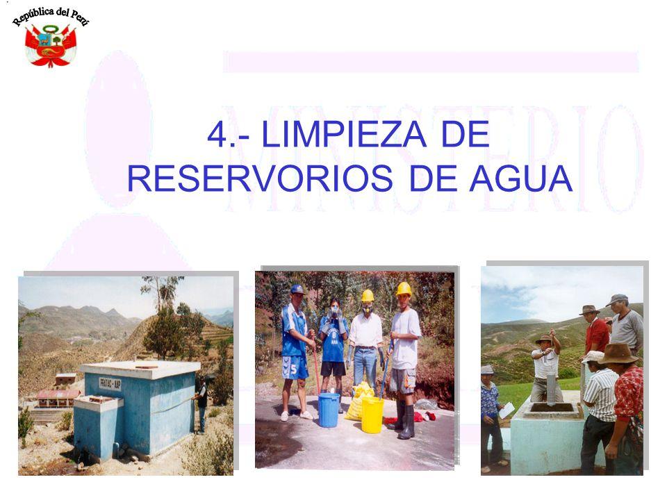 4.- LIMPIEZA DE RESERVORIOS DE AGUA