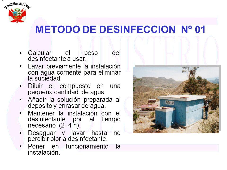 METODO DE DESINFECCION Nº 01