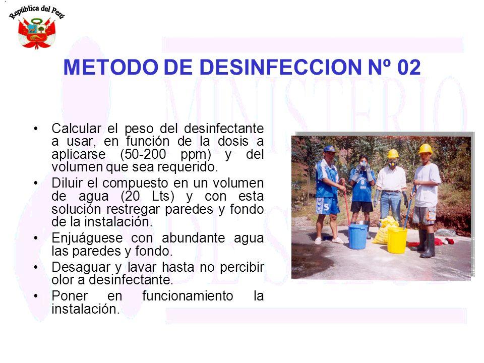 METODO DE DESINFECCION Nº 02