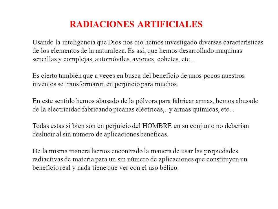 RADIACIONES ARTIFICIALES