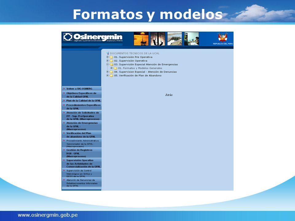 Formatos y modelos www.osinergmin.gob.pe
