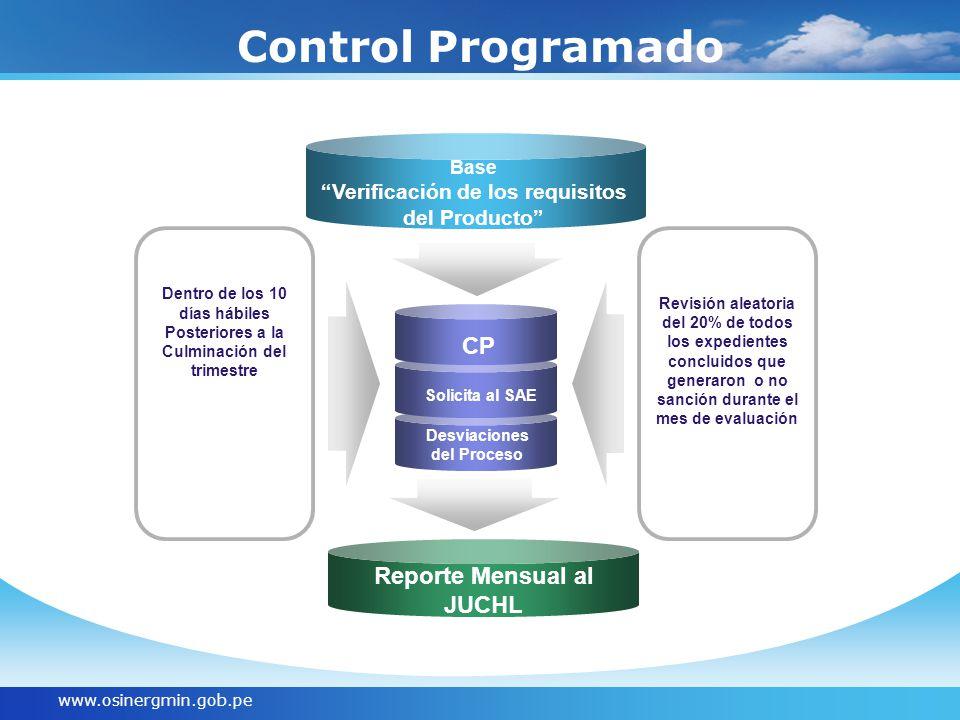 Control Programado CP Reporte Mensual al JUCHL