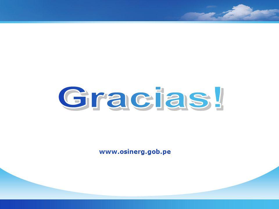 Gracias! www.osinerg.gob.pe