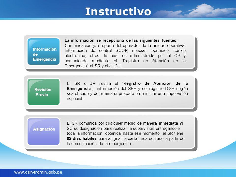 Instructivo La información se recepciona de las siguientes fuentes: